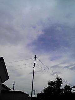 雨上がり・西の空