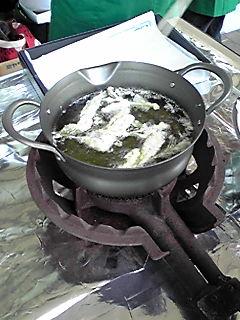 お茶の葉天ぷら